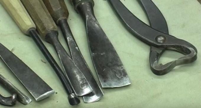 Ręczne narzędzia i długa do tworzenia martwego drewna