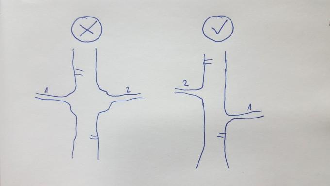 Gdy gałęzie rosną na jednym poziomie wytwarza się nieestetyczne zgrubienie pnia.